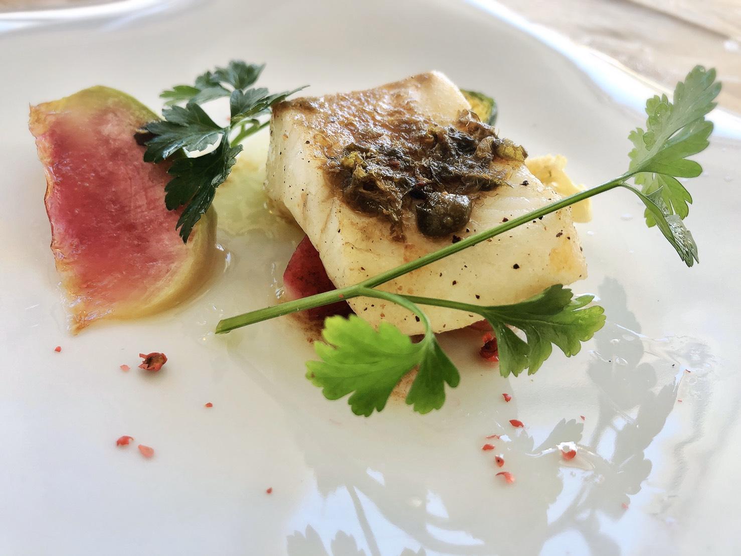 【魚料理】スズキのインパデッラ リグーリアソース