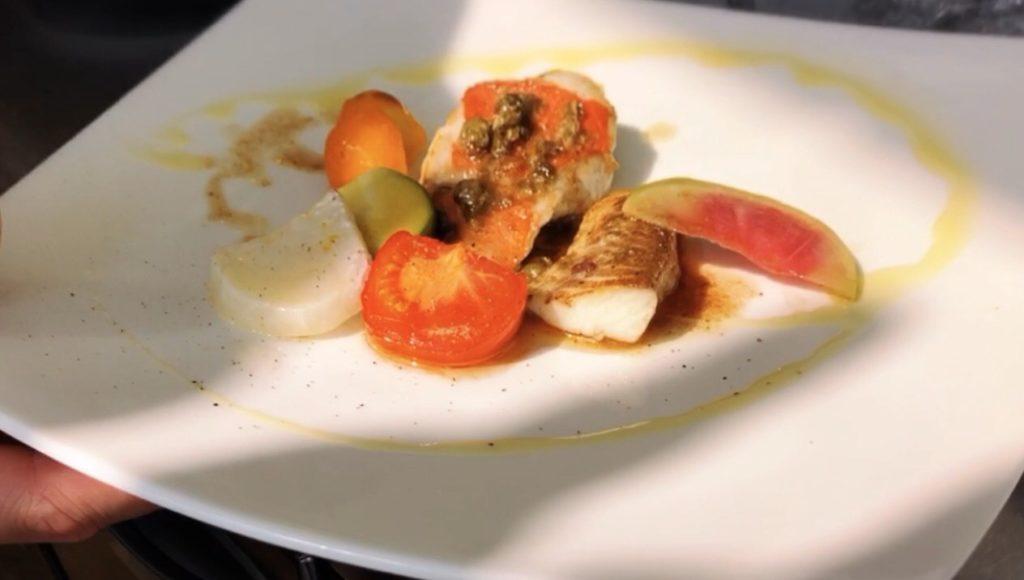 ルパリエのメニュー 金目鯛とスズキのインパデッラ